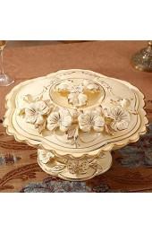 zvcv Snack Obstteller drehbarer Keramik Candy Plate Obstteller Modernes Wohnzimmer Trockenfruchtteller Fach mit Deckel Candy Box