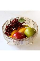zvcv Snack Obstteller Obstteller Salatteller Obstschale Obstteller aus transparentem Glas aus Europa Wohndekoration Wohnzimmer Tischplatte Tischdekoration Obstteller