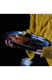 zvcv Snack Obstteller Salat Obstteller Flacher Mund Fischteller Haushaltsteller Sashimi Sushi Langer Teller