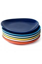 Sweese 151.002 Dessertteller Set 6-teilig Kuchenteller Frühstücksteller aus Porzellan Bunte Serie 19 cm