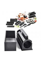 HilMe Sushi-Formen Sushi-Werkzeug-Set mit Reisformen und Utensilien einfach und lustig freie Größe Schwarz (10-teiliges Set)