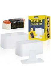 JEDELEOS Musubi Press Spam Musubi Form – BPA-frei antihaftbeschichtet und ungiftig Musubi Making Kit – Machen Sie Ihr eigenes hawaiianisches Spam Musubi Kimbab Onigiri zu Hause (2 Stück)