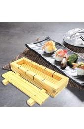 N/W Sushi Maker Kit Holz Sushi Form DIY Sushi Set Sushi Roller Bambus Sushi Maker für Anfänger Easy Sushi Maker DIY