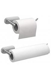 Küchenrollenhalter Ohne Bohren 2er Pack Wand Toilettenpapierhalter Selbstklebend Papierrollenhalter wandmontage Rollenhalter für Küchenkrepp Edelstahl Matt