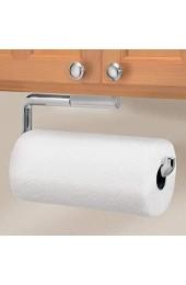 mDesign Küchenrollenhalter – die ideale Aufbewahrung für die Küchenrolle – Halter auch für Küchen- und Handtücher – Papierrollenhalter für Wand- und Schrankmontage – silberfarben