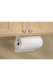MDESIGN Küchenrollenhalter Wand weiß - Rollenhalter Küchenrolle - Halter für Küchenrolle aus hochwertigem Edelstahl - für Schrank- oder Wandmontage - 35 cm x 6 4 cm x 10 58 cm