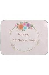 Geschirrtrocknungsmatte Mikrofaser Küchenarbeitsplatten Dry Pad Protector 16 x 18 Zoll Muttertag Rosa Blumenkranz