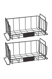 GUOXIANG Allzweckkorb Metall 2er Set Der Stapelbare Aufbewahrungskorb Dekokörbe Haushalt Desktop Drahtkorb ideal für Küchenschränke Abstellkammern und Badezimmer