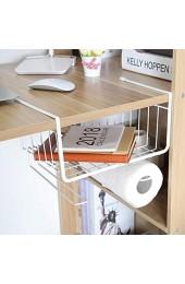 Hängekorb aus Metall Aufbewahrungs-Korb für Küchenschränke Kleiderschränke Regale Unterbauschrank Unterbau-Regal Schublade Organizer Mülleimer Halter Aufbewahrungsbox Home Organizer