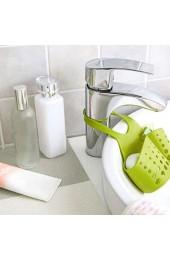 KKAAMYND Einfaches Design Einstellbarer Knopf Design Küche Hängender Abflusskorb Badezimmer Aufbewahrungskorb Regal Abflusskorb grün Große Hilfe für Küche Bad usw.