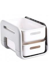 LQKYWNA Küchenregal Arbeitsplattenschublade Doppelschichtige Aufbewahrung unter dem Waschbecken Schubladenregal für die Hauptküche