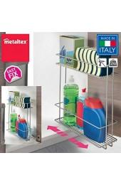 Metaltex In&out XL-Organizer für die Reinigung Grau metallisch 11 x 38 x 34 cm