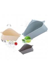 Nichino Küchenregal Reinigungstuch Geschirrtuch Waschbecken Abflussregal Saugnapf Hängekorb Dreieck Lagerregal Eckregal