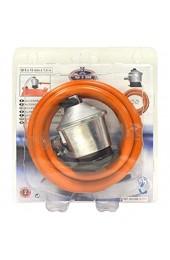 S&M 321771 Butangasregler + Gummischlauch 1 5 m + 2 Arme Grau / Orange
