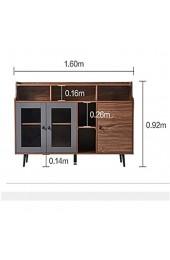 Sideboards Nordic Minimalist Home Wohnzimmer Essbereich Kabinett Kleine Wohnung Lagerung Tee Schrank Küche Weinkabinett Organisieren Sie Ihre Küche (Farbe : Braun Size : 160x41x92cm)