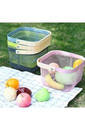 XIXIAO Aufbewahrungsboxen tragbar zum Waschen und Abtropfen von Gemüse quadratisch dick Aufbewahrungskorb Haushalt Edelstahl Obstkorb