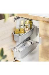 XXFFD Küche unter Waschbecken Lagerregal Gewürz Flaschenhalter Organizer Regal Badezimmer Organizer Stand Wandmontierte Kunststoff-Essstock-Kiste (Color : 2 Pack White)