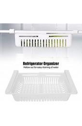 Fealay 2 Stück Kühlschrank Schubladen Organizer Versenkbarer Kühlschrank Lagerregal für Kühlschrank Regal unter 0. 5