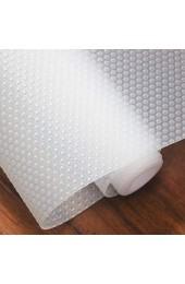 Hersvin Schubladenmatte (Übergröße) 60cmx500cm Schrankpapier Schubladeneinlage EVA Wasserfest Nicht Klebende Unterlage Teppich für Küchenschränke (Transparent/Punkt)