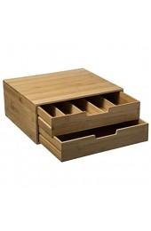 Schubladeneinheit - Besteckschubladen - Aufbewahrungskapsel - Bambus - Natürliches Material - Organisieren Sie Ihre Küche - Stapelbar - 34x31x14 5cm