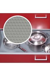 Schubladenmatte Schubladeneinlage Küche Noppen 500mm Meterware 1 5m Länge silbergrau