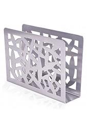 Finoki Serviettenhalter Metall Serviettenhalter aus Edelstahl Silber
