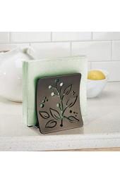 mDesign Serviettenhalter Blattverzierung für Arbeitsplatte Küche oder für Esstisch - Bronze - aus Stahl