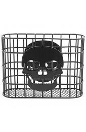 MyGift Skull Design Tabletop Serviette Halter Metall Draht Handtuchspender schwarz